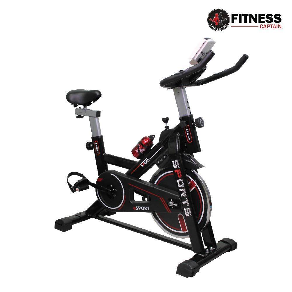 Fitness Captain Gym Use Spinning Solid Exercise Bike Black