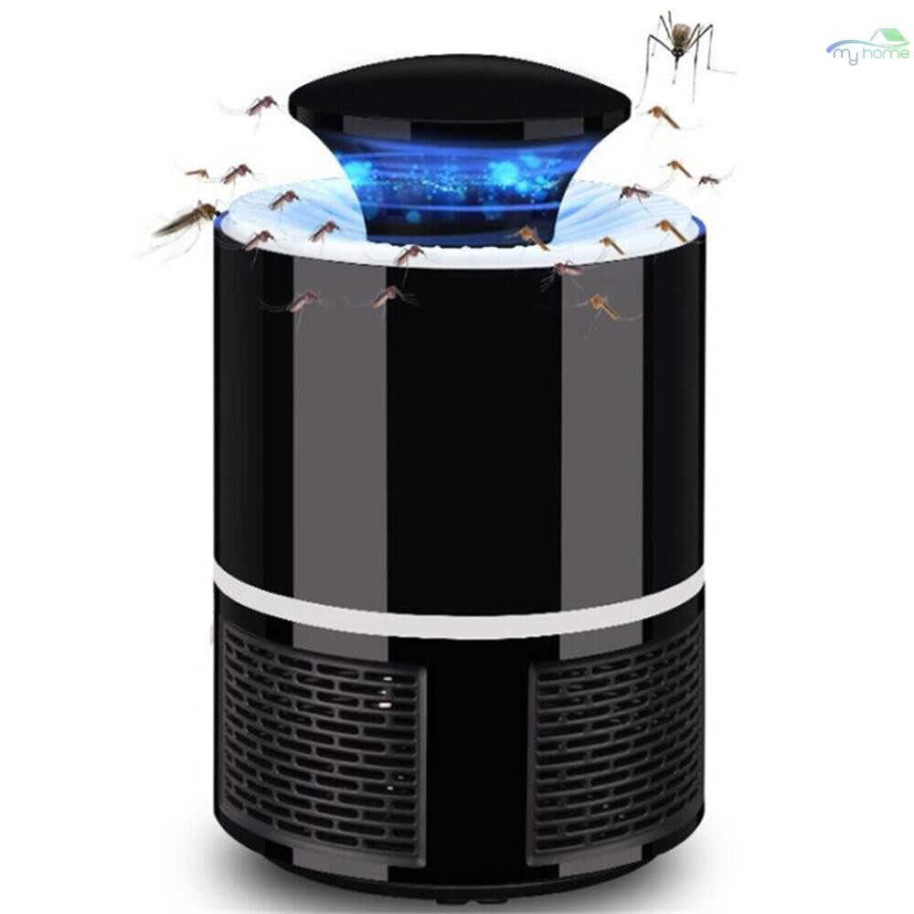 Lighting Fixtures & Components - Electronic Mosquito Killer Lamp USB Power Anti-Mosquito Fly Inhaler Insect Mosquitoes Killer Bug - BLACK / WHITE