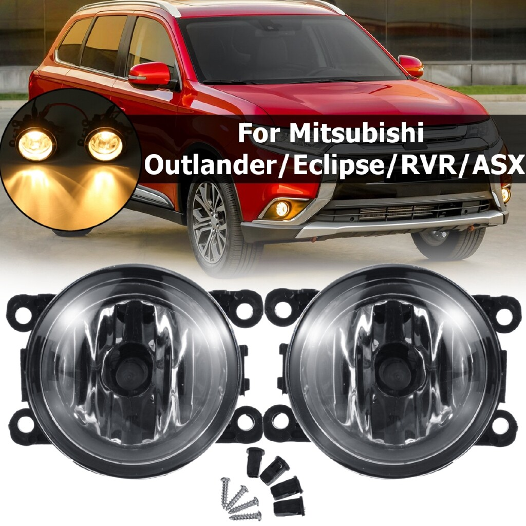 Car Lights - Front Bumper Fog Light Lamp w/ H11 Bulb For Mitsubishi Outlander/Eclipse/RVR/ASX - Replacement Parts
