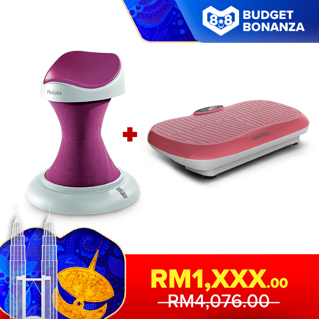 [Save More Bundle] GINTELL HuLaLa Exercise Chair (Vogue Pink) + I-So 3D Ezy Slimming Machine