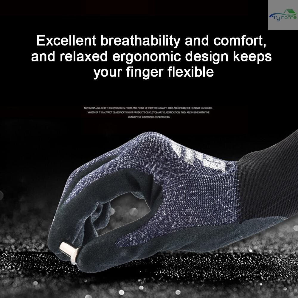 Protective Clothing & Equipment - Wonder Grip Abrasion-proof Gardening Gloves 15-Gauge Nylon Liner & Nitrile Coating Universal Work - XL / L / M / S