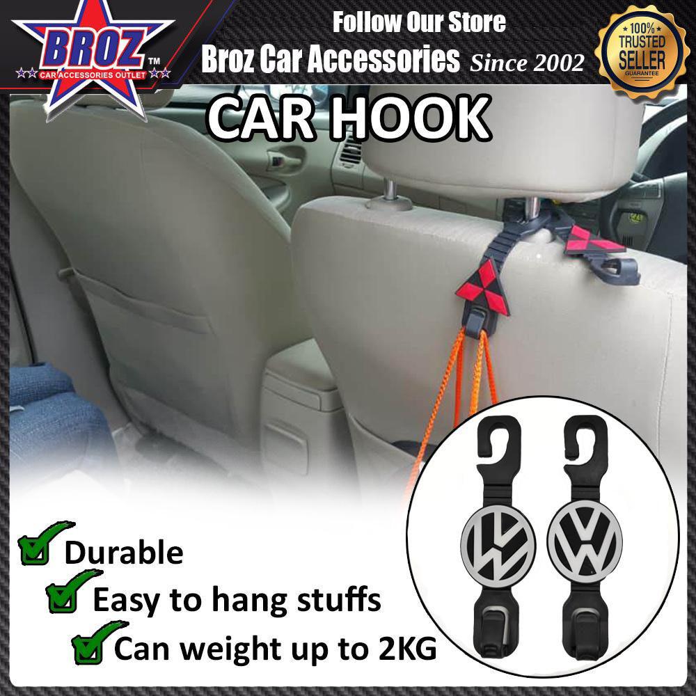 Broz 2Pcs/set Volkwagen Car Back Seat Headrest Hooks Hanger Holder For Bag