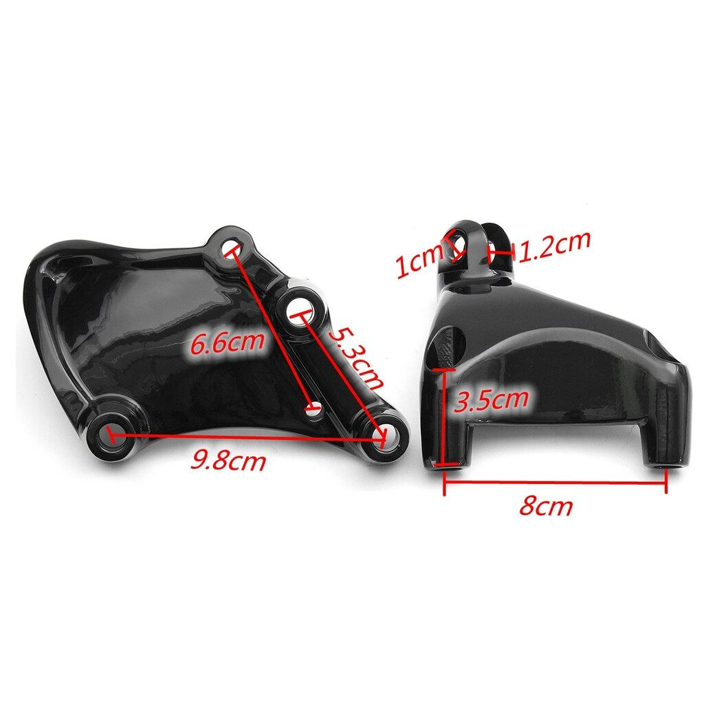 Pedals - Pair Rear Passenger Foot Pegs Pedal Mount For Harley Sportster XL 883 1200 14-16 - Car Accessories