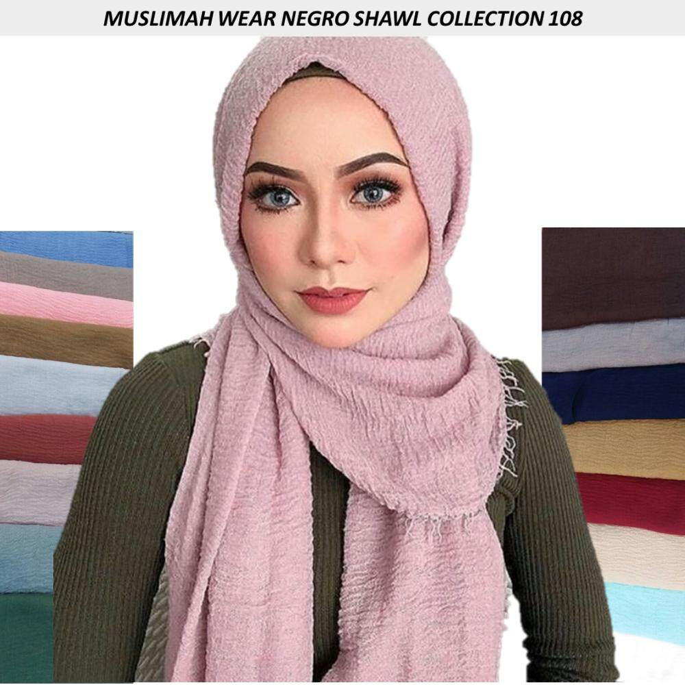 Muslimah Wear- Negro Shawl Collection 108