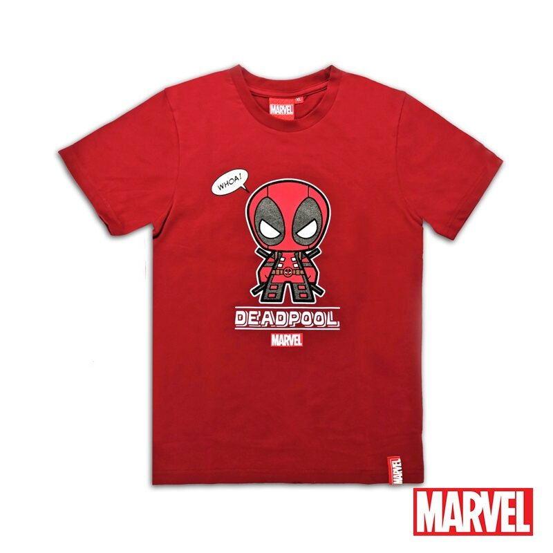 Marvel Genuine Kids Glow in the Dark Avengers Short Sleeve T Shirt Maroon VIM20719K