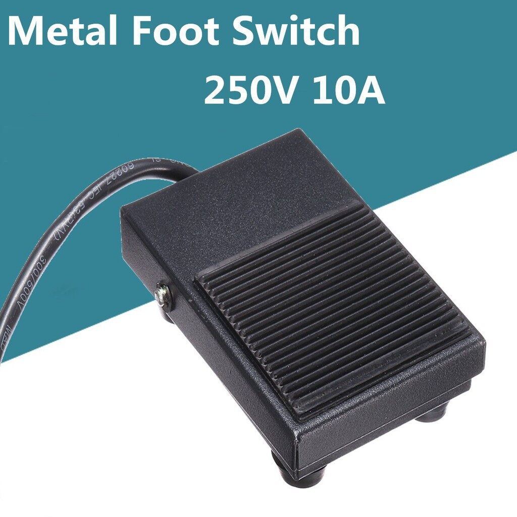 Power Tools - 250V AC 10A Heavy Duty Metal Momentary Electric Power Antislip Foot Pedal Switch - Home Improvement