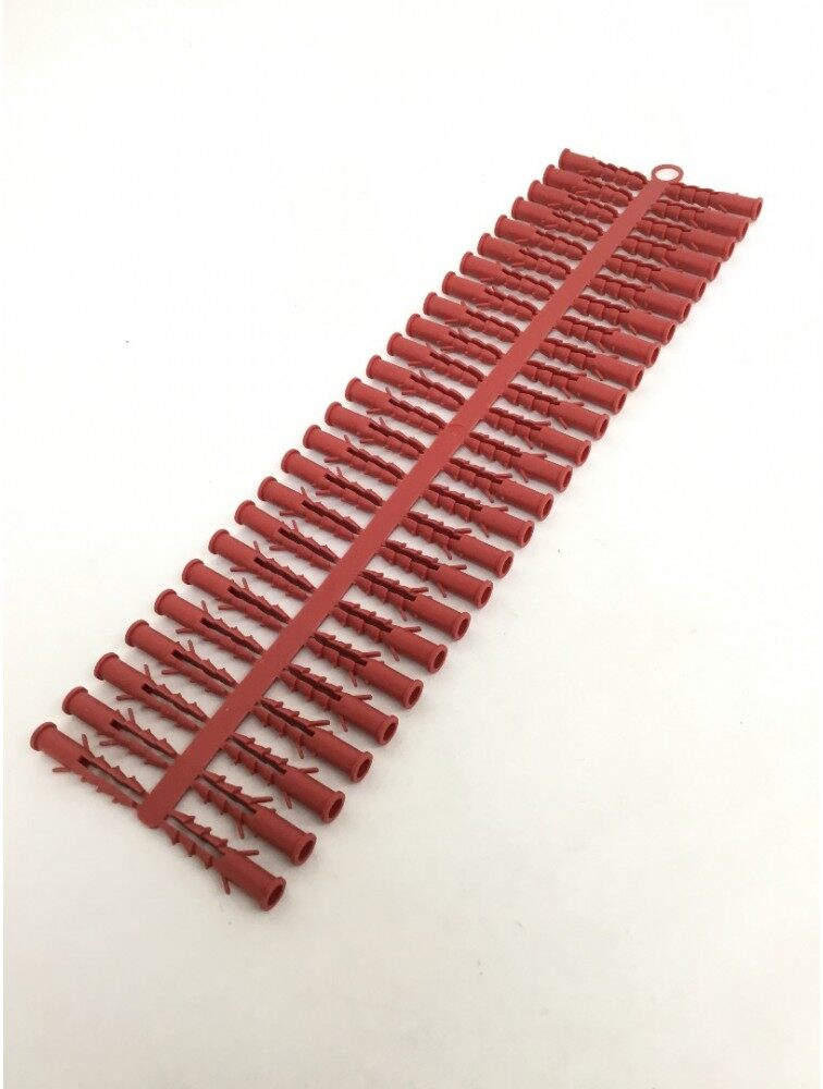 Bigsales 6mm x 1000 Pcs PVC Wall Plug Red (1 Pack)