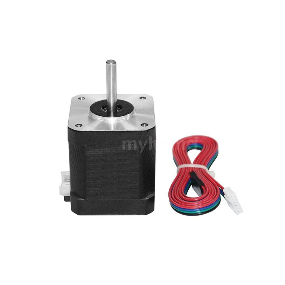 Printers & Projectors - 3D Printer Motor 17HS8401S Stepper Motor Core Diameter 5mm stepping motors with 100cm Motor - BLACK-17HS8401S