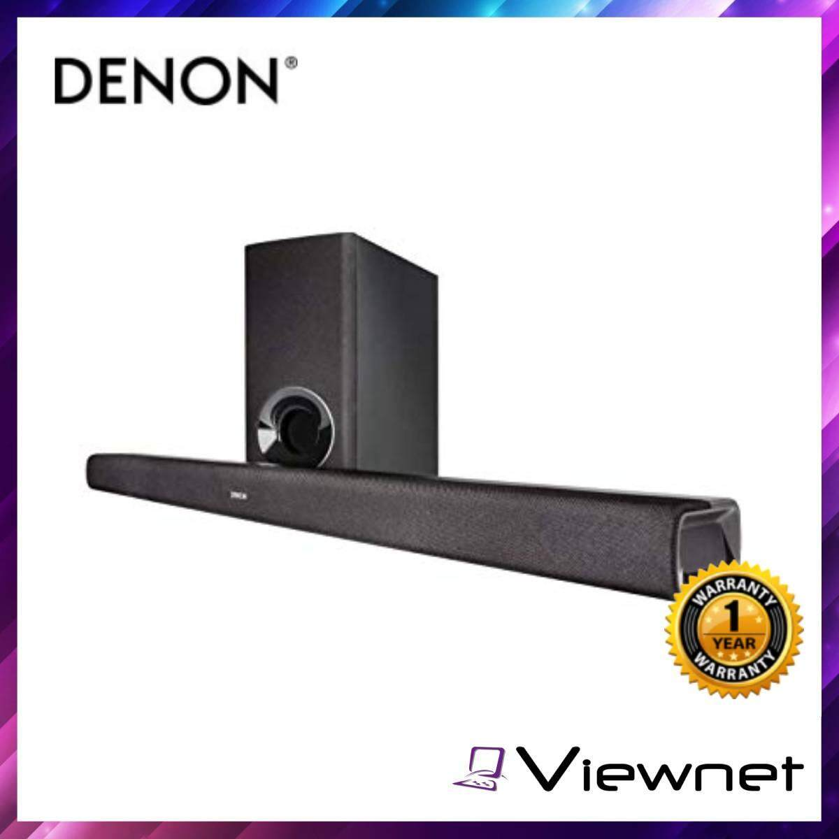 Denon Home Theater Sound Bar with Wireless Subwoofer (DHT-S316) Black HDMI with Audio Return Channel Bluetooth AUX input (3.5mm)