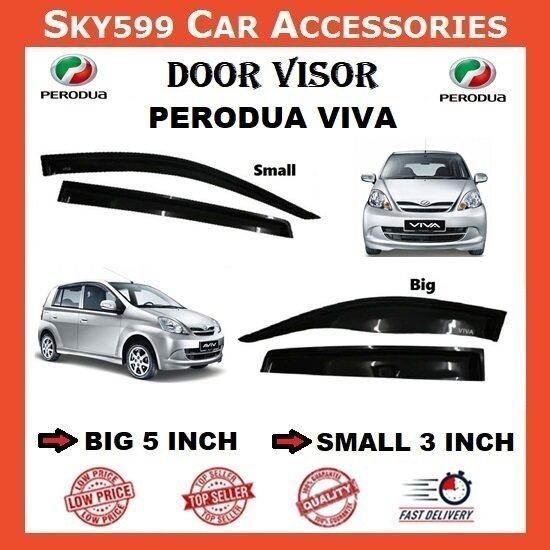 Perodua Viva 3inch Door Visor /air press?1set 4 Door?