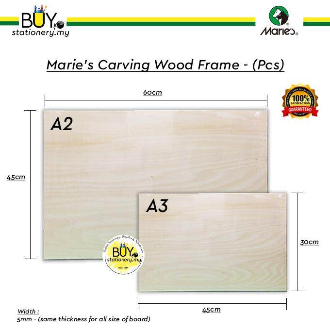 Marie's Carving Wood Board A2/A3 - (1s/PCS)