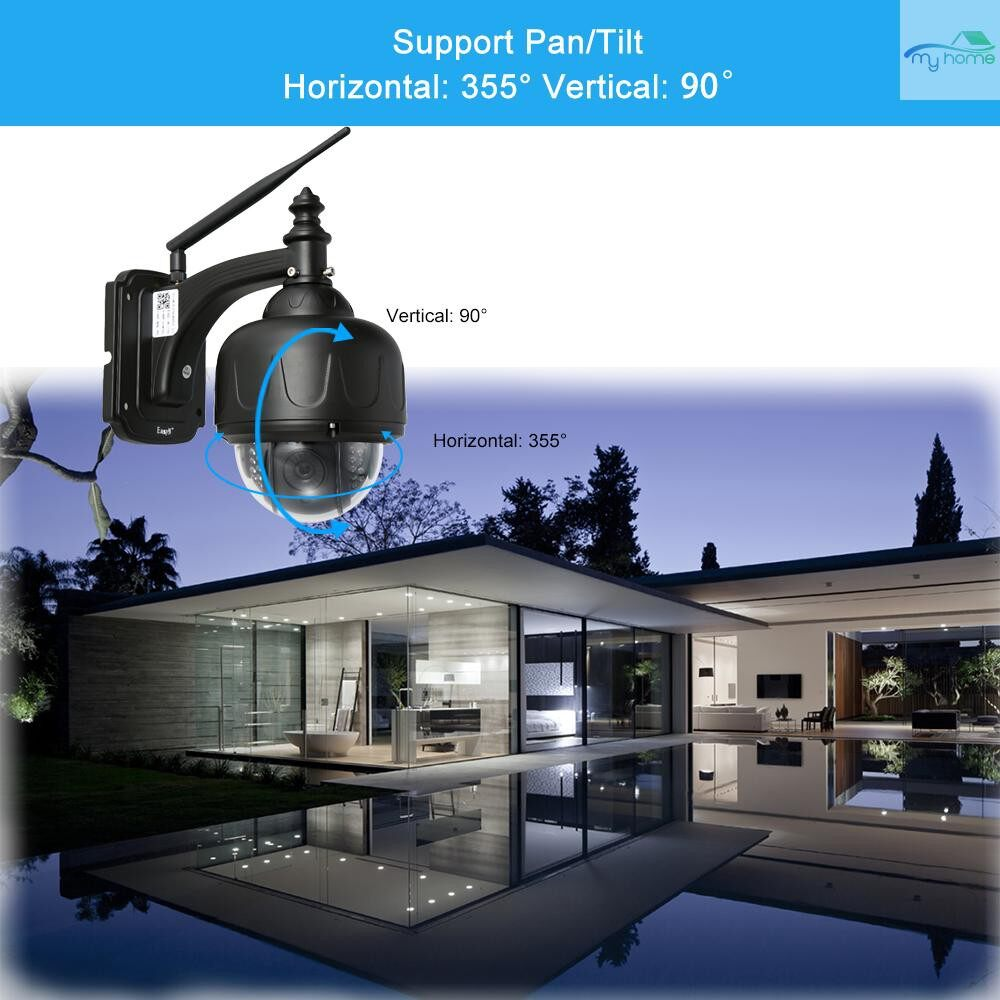 CCTV Security Cameras - EasyN H.264 HD 960P WIRELESS WiFi PTZ IP Camera Outdoor Waterproof Support P2P for Android/iOS APP - Systems