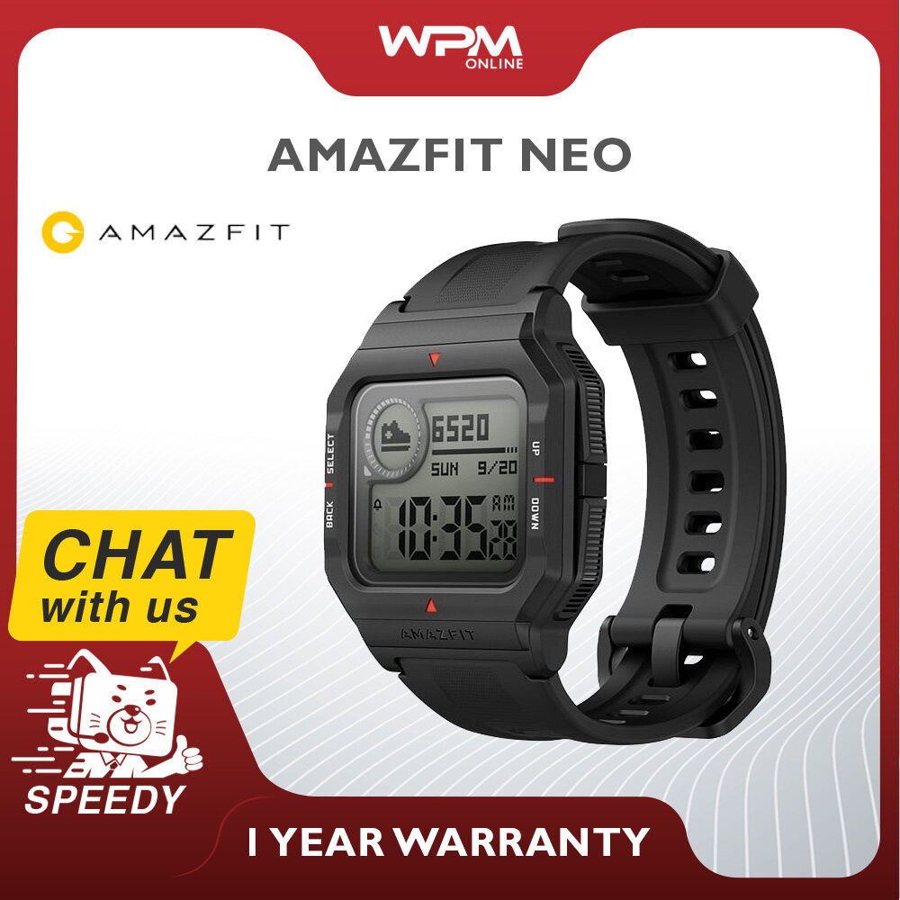 Amazfit Neo Global Version Smart Watch Always On Display Heart Rate Monitoring Sleep Monotoring Water Resistant (1 Year Malaysia Warranty)
