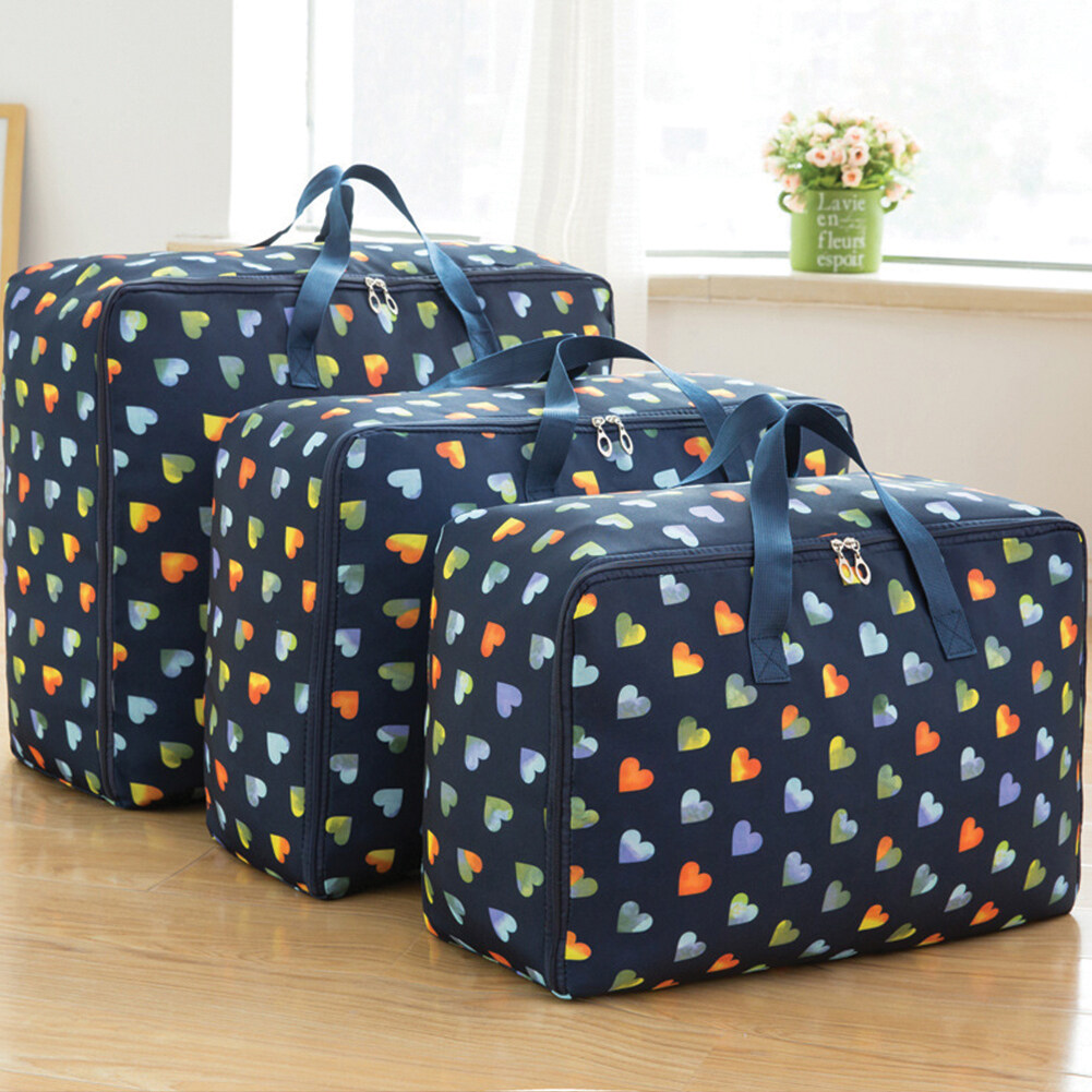 3Pcs/Set Large Capacity Oxford Storage Bag for Quilt Cloth Travel Luggage Container