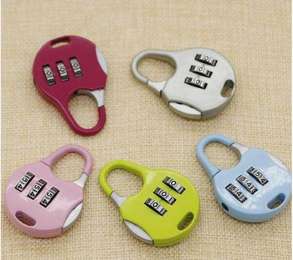 Poly-Pac 3 Digit Combination Number Lock Padlock-Silver