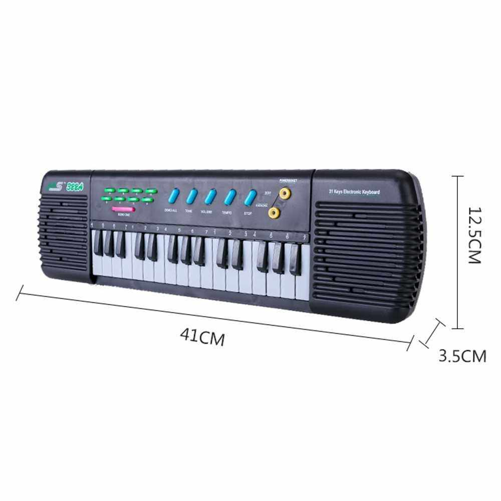 31 Keys Electronic Piano Multifunctional Electronic Organ Musical Instrument Toy with Microphone for Kids Beginners (Standard)
