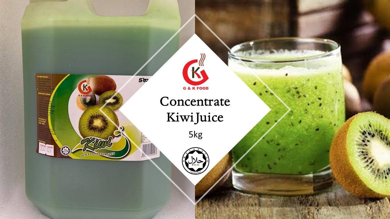 [100% JAKIM HALAL] 5kg Concentrate Kiwi Juice/ Kiwi Milk Shake/ Ice Blended Kiwi/ Stock Cukup!!!