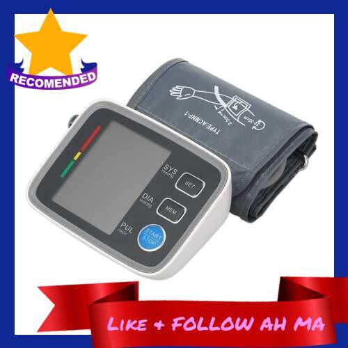 Best Selling Big LCD Display Digital Blood Pressure Monitor Tonometer Sphygmomanometer Heart Rate Monitors Health Monitor for Heart Blood (Standard)