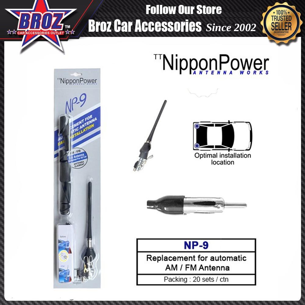 Nippon Power NP-9 Replacement For Fully Automatic AM / FM Antenna
