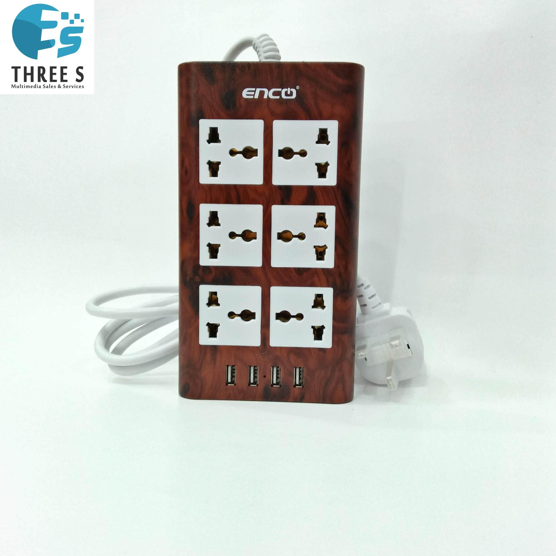 ENCO Power Extension 6Gang.4USB Port