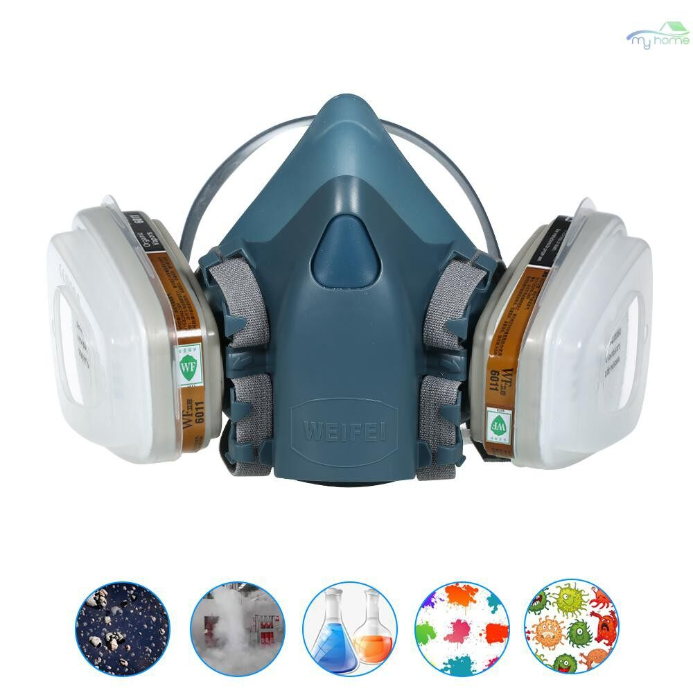Protective Clothing & Equipment - 8200 Half Face Gas Mask Respirator Organic Gas Filter Cartridge Dust-proof Mask Painting Spraying - MULTICOLOR