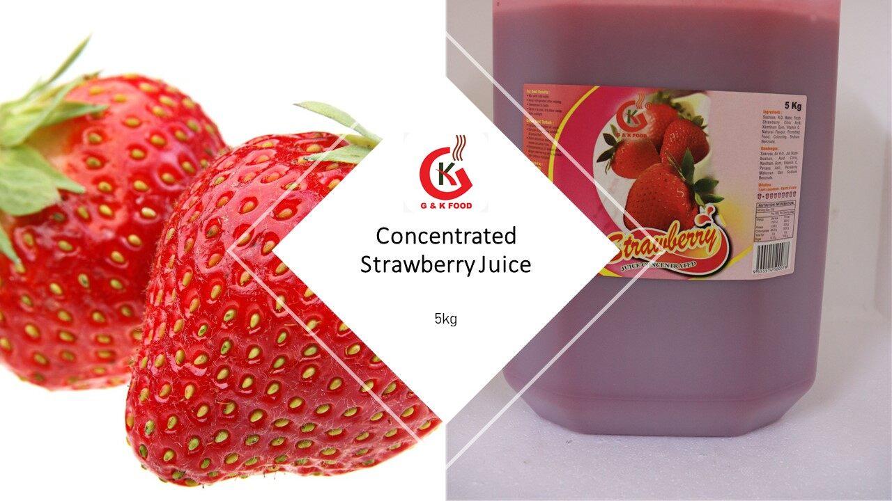 [100% JAKIM HALAL] 5KG Concentrate Strawberry Juice