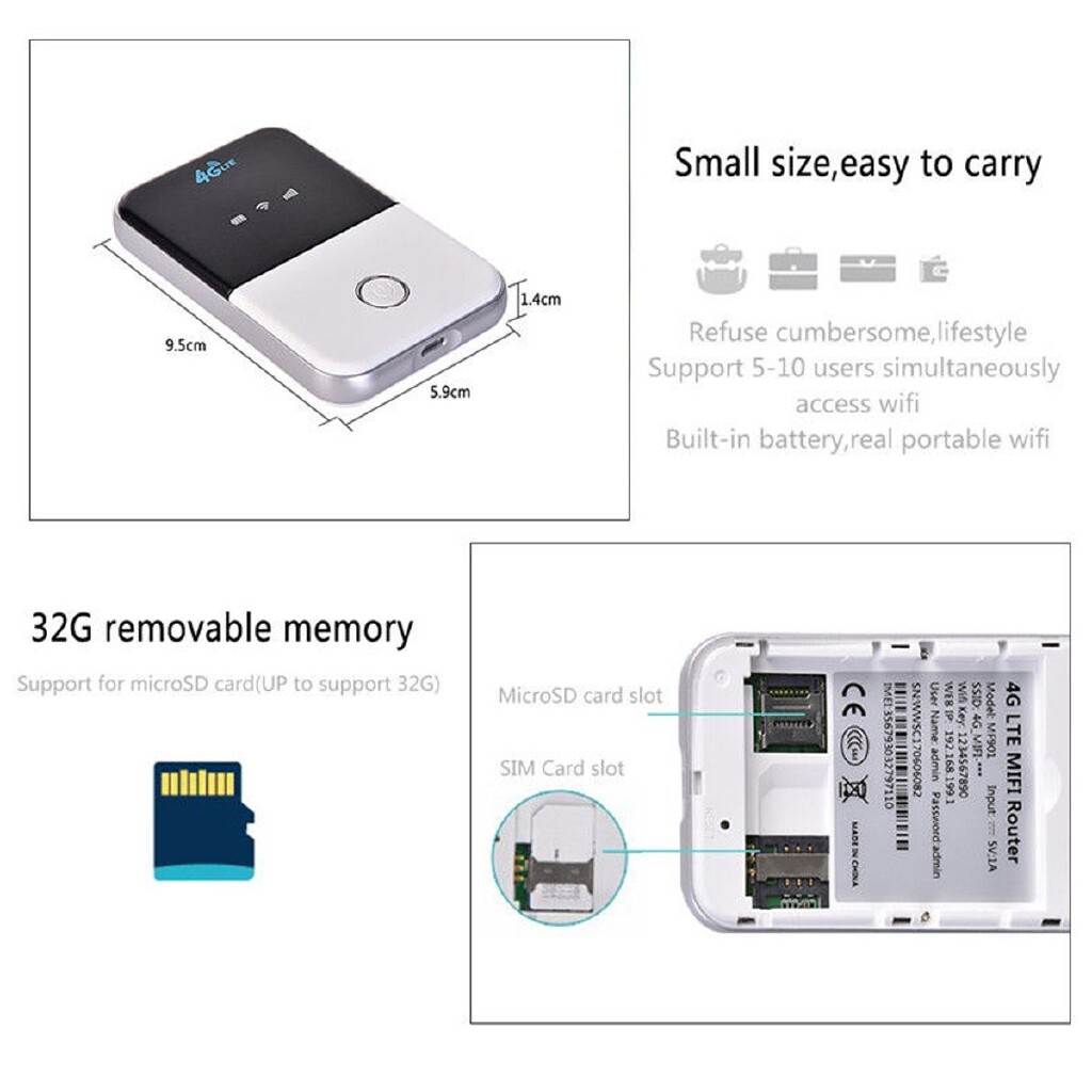 Radios - 4G LTE Mobile WiFi WIRELESS Pocket Hotspot Router Modem Broadband Mifi Unlock - Audio