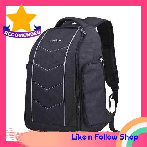 Andoer Professional 600D Fabric Material Camera Backpack Bag (Black)