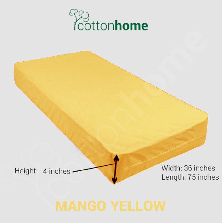 SINGLE sized Mattress Cover with Zip - Various Colours - Ready Stock