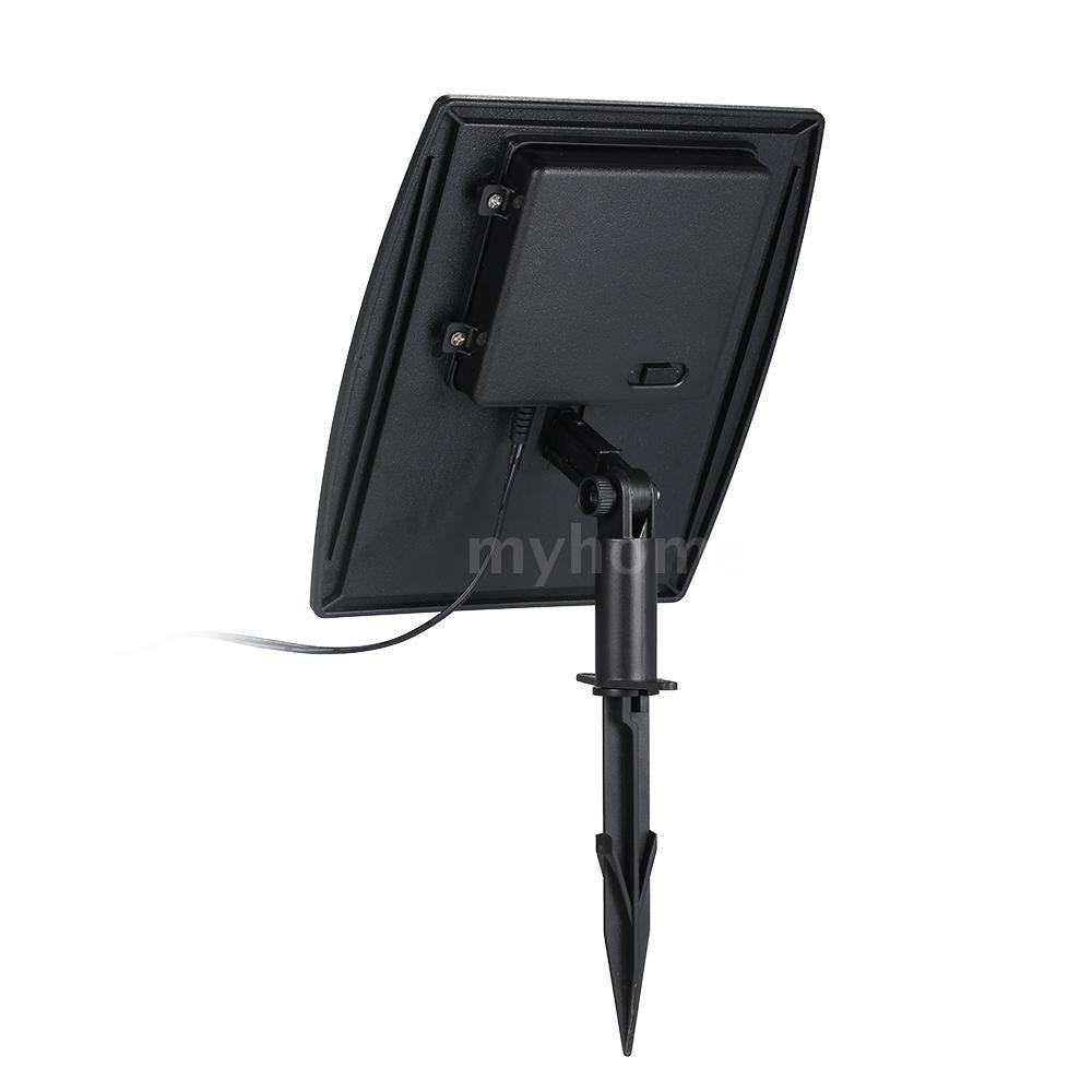 Outdoor Lighting - Solar Powered Lawn Light Twin Solar LED Spotlight 120-140 Lumen Per Light IP65 Water-resistant - WARM WHITE / WHITE