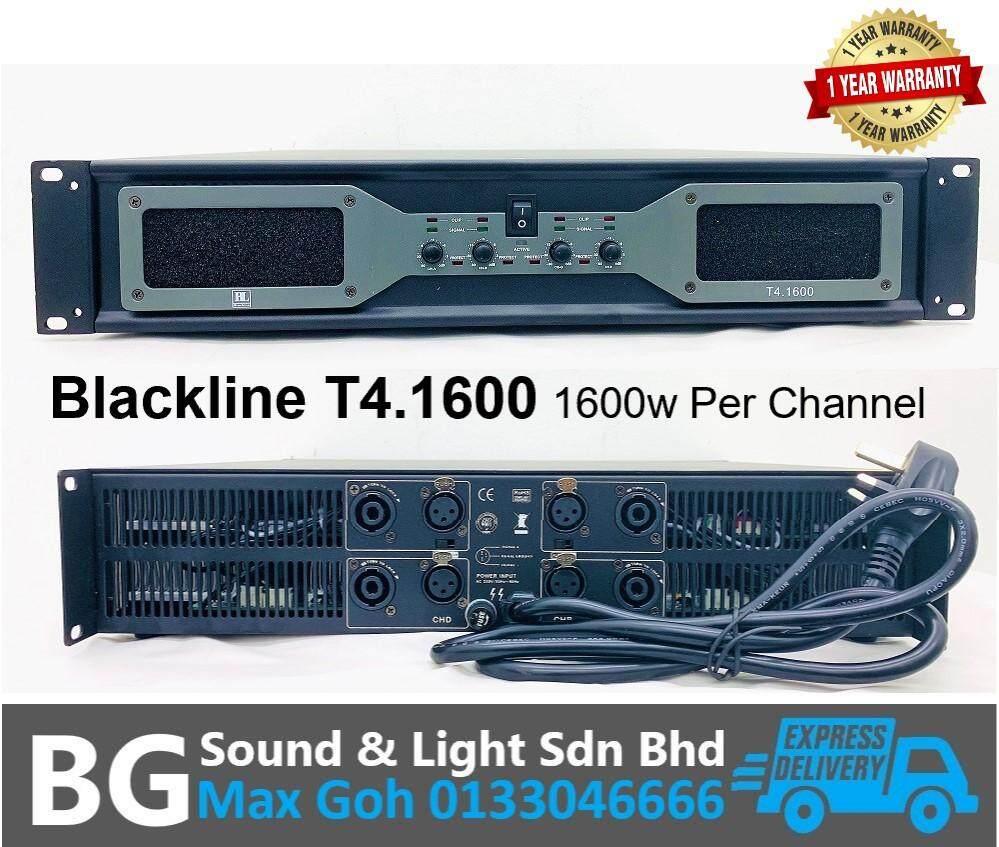 Blackline T4.1600 4 Channel 1600w 8 Ohms Per Channel Power Amplifier