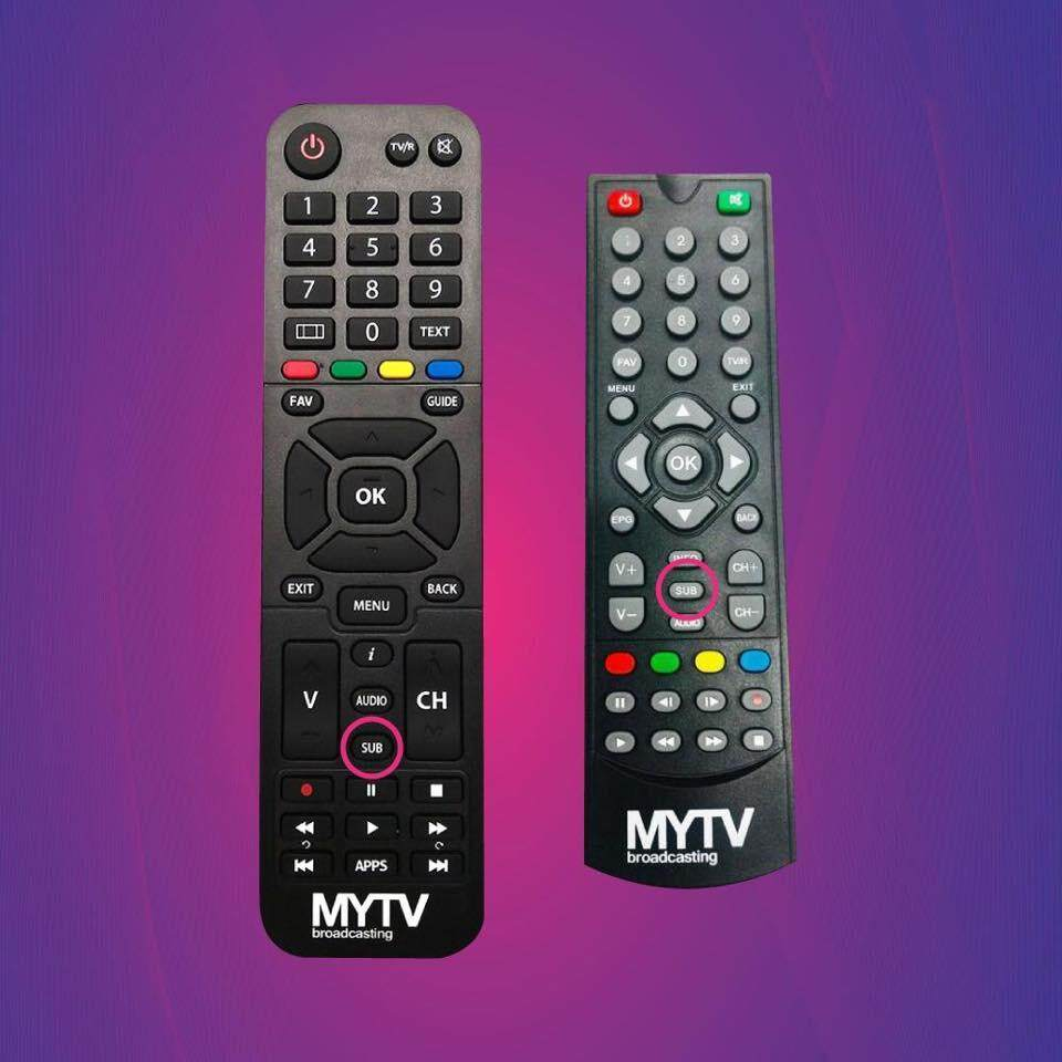 Remote Control for MYTV Advance Decoder