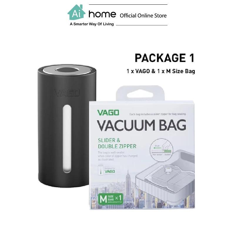 VAGO Portable Compressor TVD1 + 1 x Free M Size Bag with 1 Year Malaysia Warranty [ Ai Home ] VTVD1B