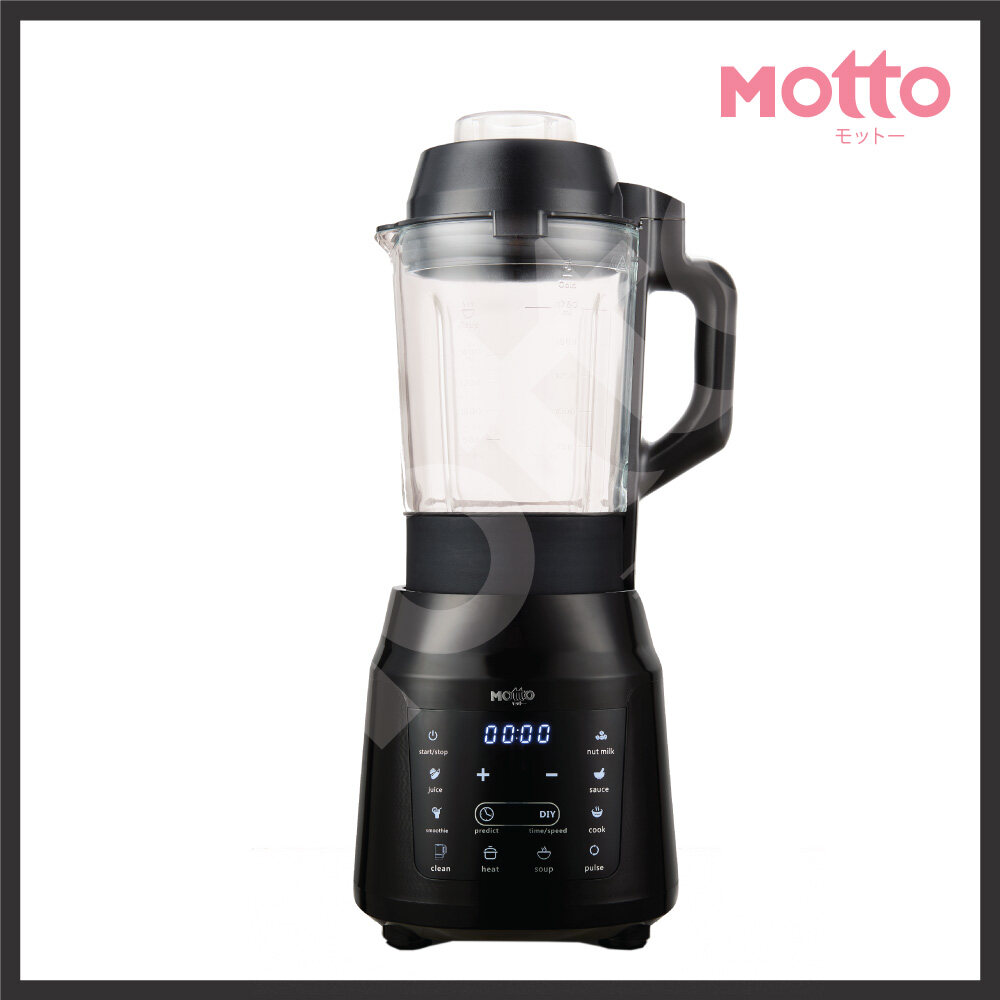【Ready Stock In Malaysia】Motto Latest Japan Technology (1.75L) 6 stainless steel blades Multitech Blender
