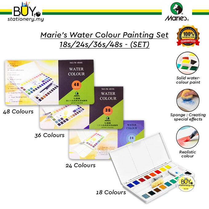 Marie's Water Colour Painting Set 18s/24s/36s/48s - (SET)
