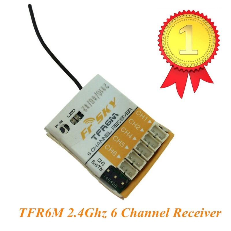 FrSky TFR6M 2.4Ghz 6 Channel Micro Receiver Compatible Futaba FASST Park Flyers