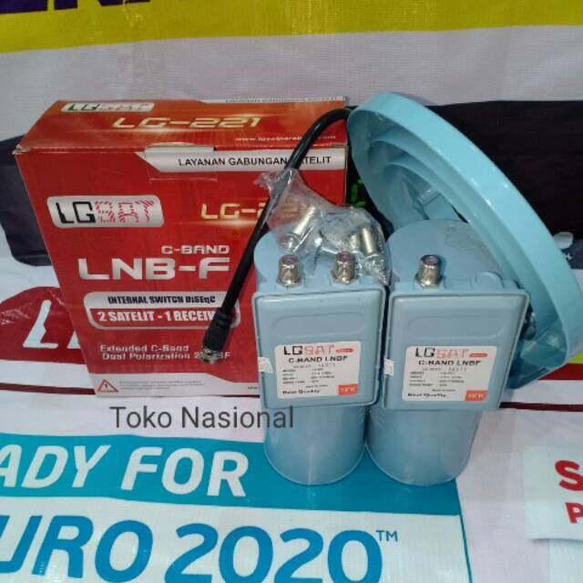 LNB-F C BAND Twin Palapa Telkom LGSAT LG-220 2 SATELIT -  1 RECEIVER