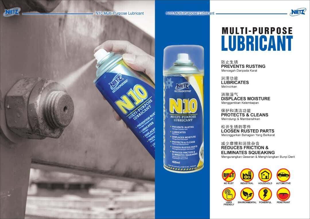 N10 Multi-Purpose NIETZ Lubricant Spray (400ML)
