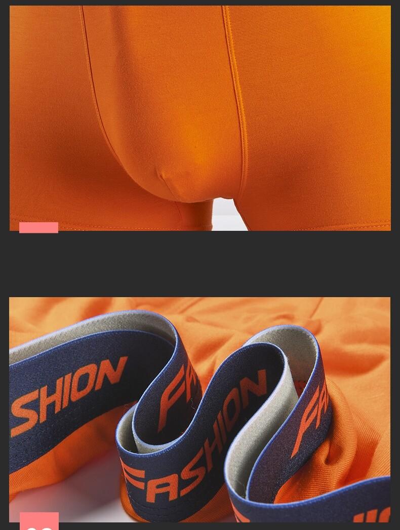 Plus Size 4 Pcs set Men Fashion Boxer Breathable Quick Dry Men Panties Underwear