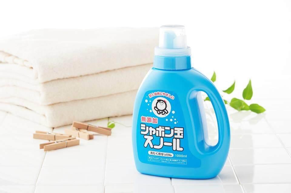 Shabondama Soap Laundry Detergent (1L) - Brightener free Laundry Soap - Sabun Cuci Baju Bebas Wangian シャボン玉スノール 1000mL