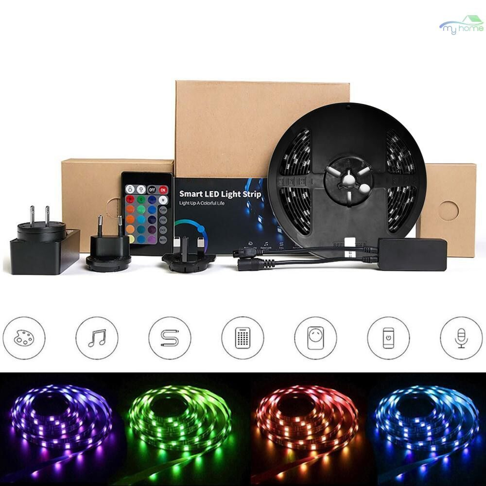 Lighting Fixtures & Components - L1 Dimmable Lamp Strips IP65 Waterproof Intelligent WiFi RGB LED Light Strip Kit - US-5M / EU-5M / UK-5M / UK-2M / US-2M / EU-2M