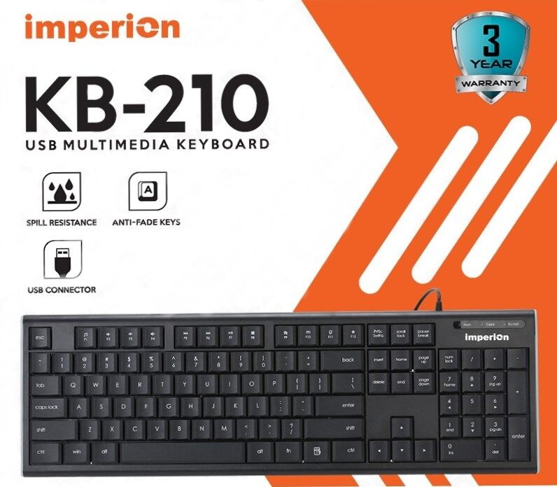 IMPERION KB-210 USB MULTIMEDIE KEYBOARD