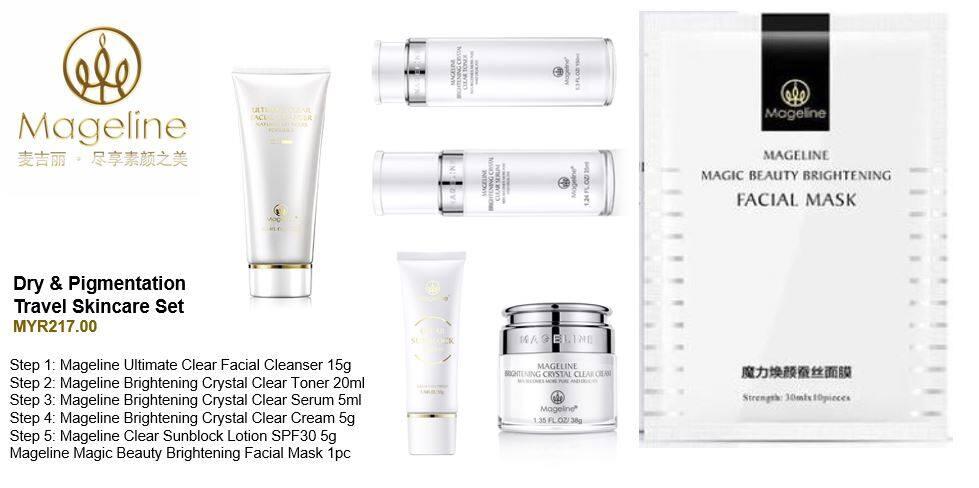 Mageline Dry & Pigmentation Skincare Travel Set