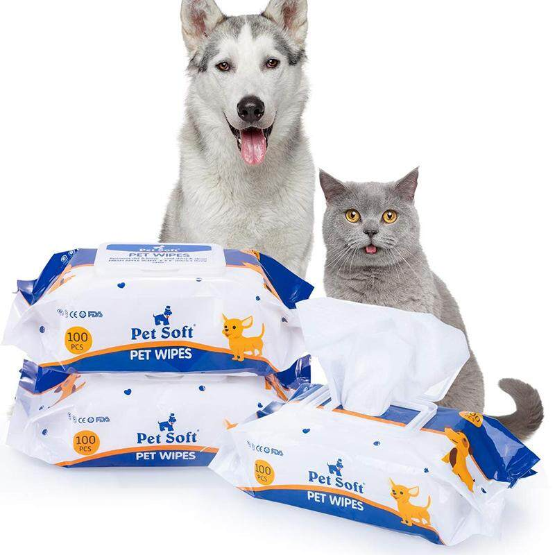 Pet Soft Pet Wipes for Dogs and Cats (100PCS)