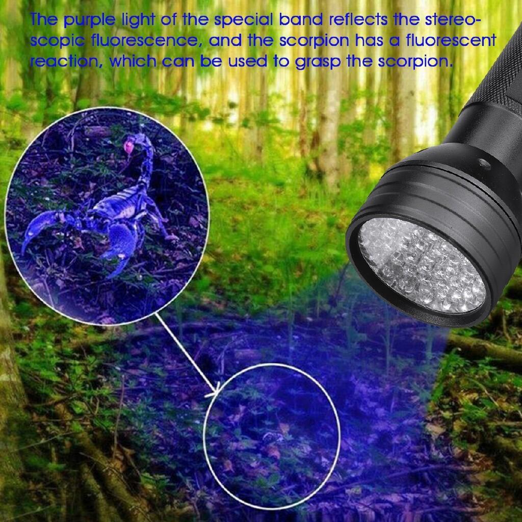 Outdoor Lighting - UV ULTRA Violet 51LEDs Flashlight Blacklight Light 395 nM Inspection Lamp Torch