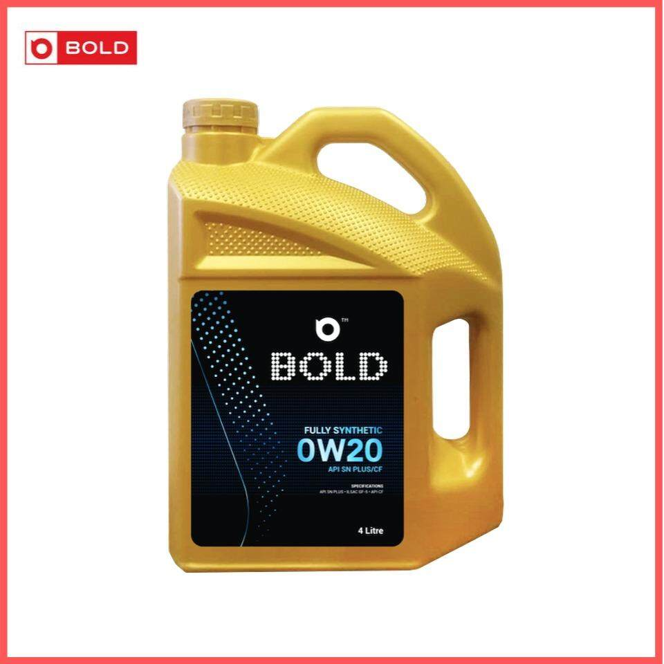 Bold Fully Synthetic SN Plus 0w20 Engine Oil Lubricant 0w-20 3L / 3Litre