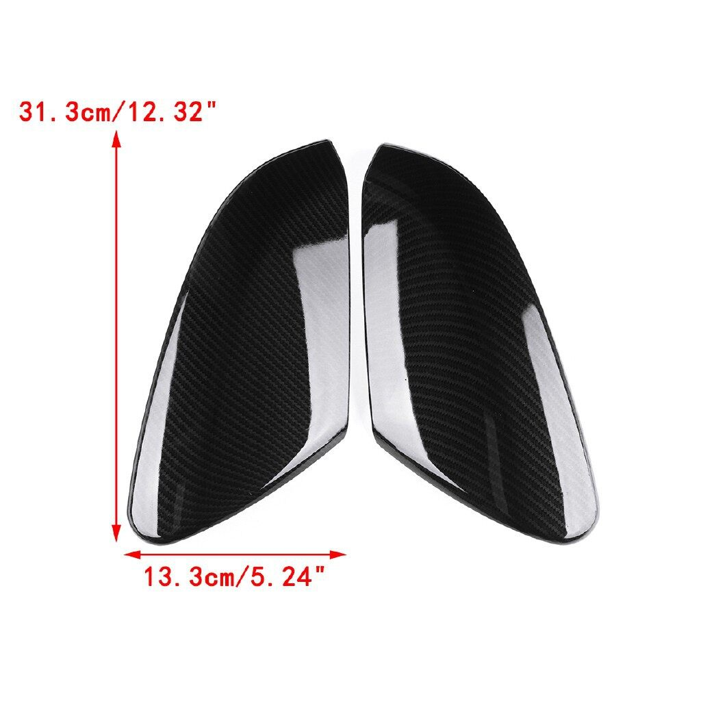 Car Lights - Carbon Fiber Style Rear View Side Mirror Cover Caps For Honda Civic - Replacement Parts