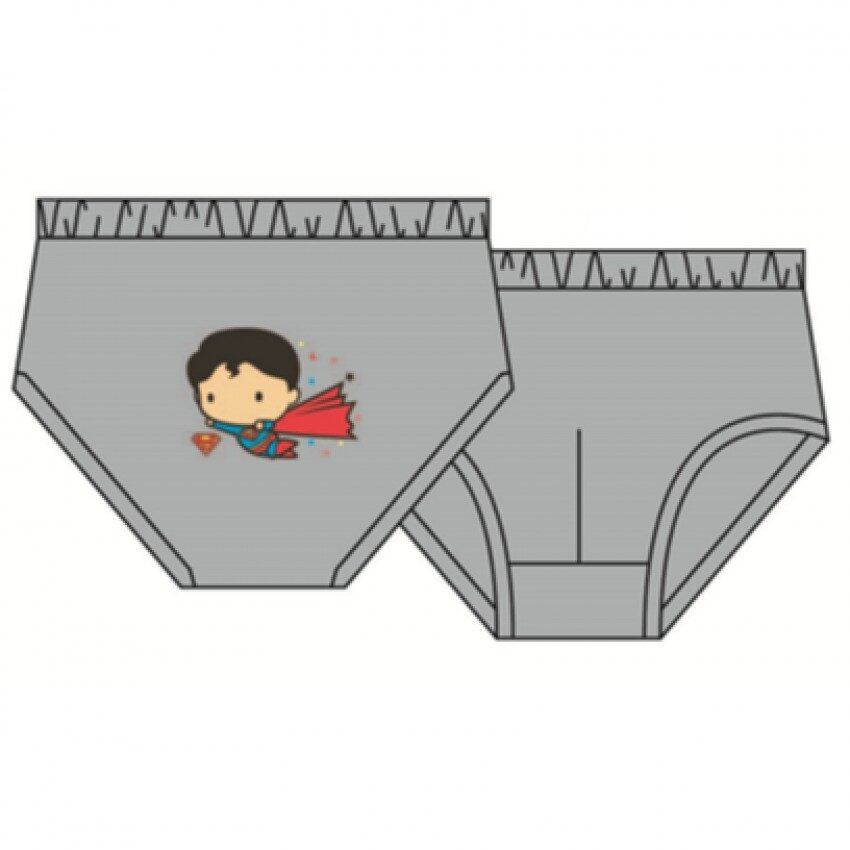 DC Comics Superman Boys Briefs Set 100% Cotton 4yrs to 12yrs - Red Light Green And Grey Colour
