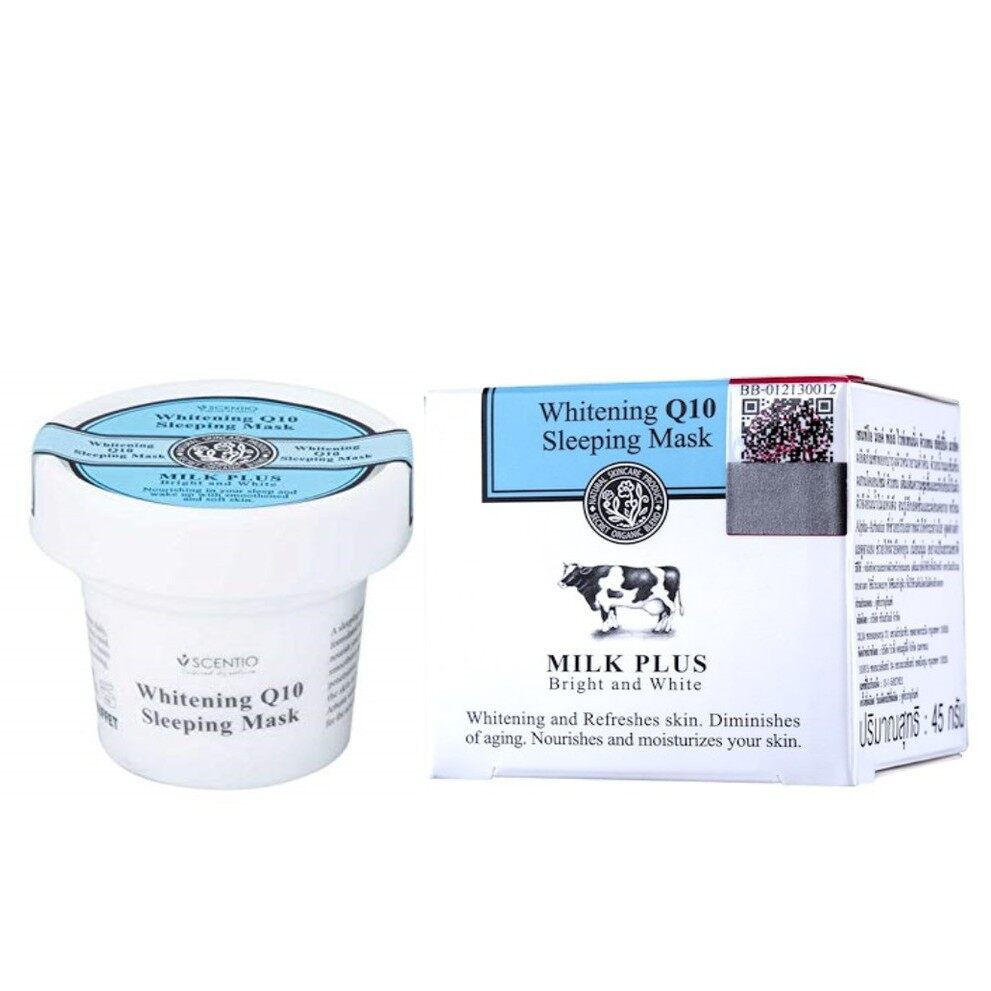 BEAUTY BUFFET Scentio Milk Plus Whitening Q10 Sleeping Mask 45g