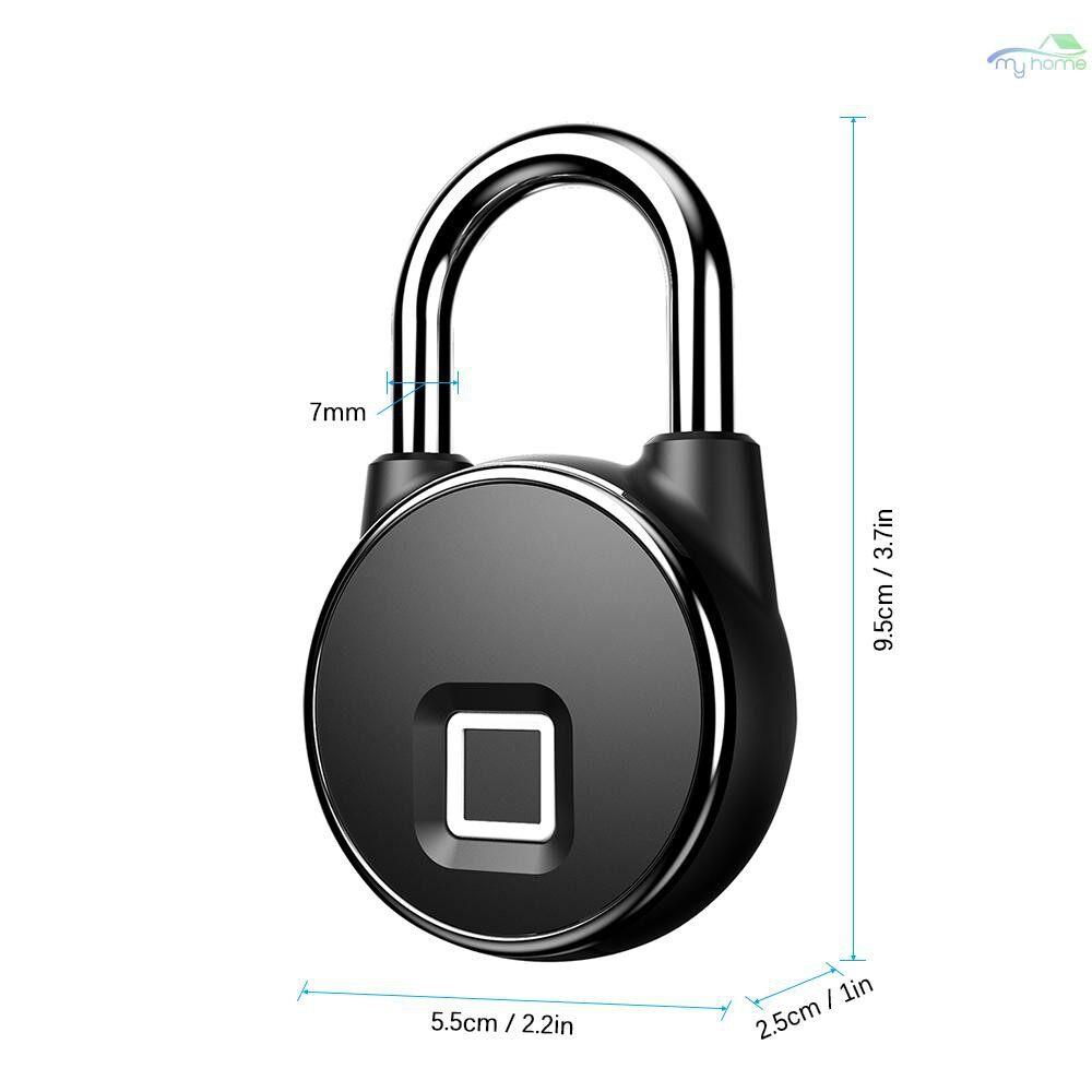 Chains & Locks - USB Rechargeable Smart Keyless Fingerprint Lock Fast Response 10-Groups Fingerprints IP66 - #